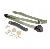 3-Point Seat Belt, Olive, Retractable, Universal