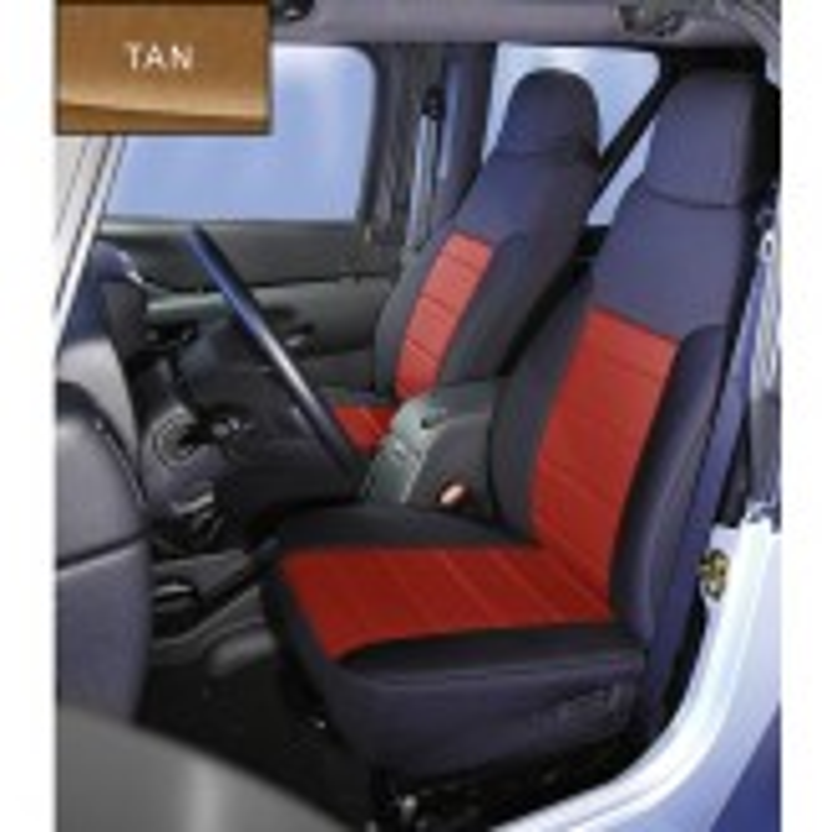 Neoprene Front Seat Covers, Tan; 91-95 Jeep Wrangler YJ