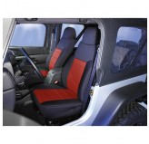 Neoprene Front Seat Covers, Red; 91-95 Jeep Wrangler YJ