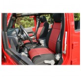 Neoprene Front Seat Covers Black/Red 07-10 Jeep JK Wrangler