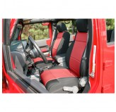 Neoprene Front Seat Covers Black/Red 11-12 Jeep JK Wrangler
