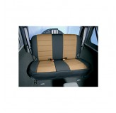 Neoprene Rear Seat Covers, Tan; 97-02 Jeep Wrangler TJ