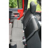 Neoprene Rear Seat Cover, Black; 07-17 Jeep Wrangler JKU