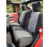 Neoprene Rear Seat Cover, Black/Gray; 07-17 Jeep Wrangler JKU