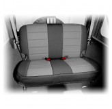 Neoprene Rear Seat Cover Black/Gray 07-12 Jeep 2-Door Wrangler