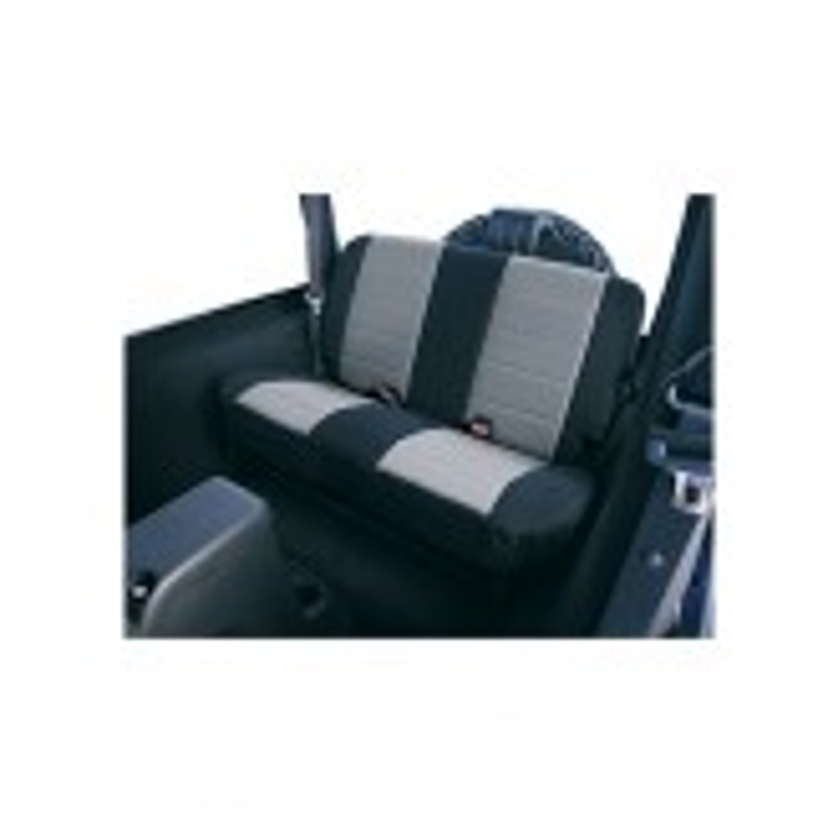 Fabric Rear Seat Covers, Gray; 97-02 Jeep Wrangler TJ