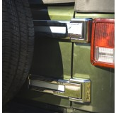 Tailgate Hinge Covers, Chrome; 07-17 Jeep Wrangler JK