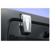 Liftgate Hinge Covers, Chrome; 07-17 Jeep Wrangler JK
