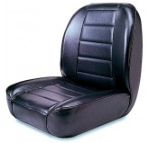 Low-Back Front Seat, No-Recline, Black; 55-86 Jeep CJ Models