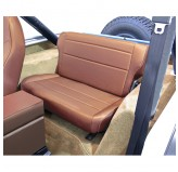 Fold and Tumble Rear Seat, Tan; 76-95 Jeep CJ/Wrangler YJ