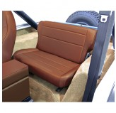 Fold and Tumble Rear Seat, Nutmeg; 76-95 Jeep CJ/Wrangler YJ