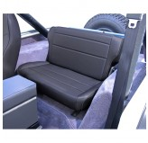 Fold and Tumble Rear Seat, Black Denim; 76-95 Jeep CJ/Wrangler YJ