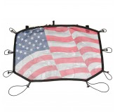 Eclipse Sun Shade, Front, American Flag; 07-16 Jeep Wrangler JK