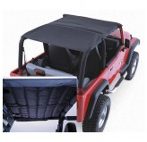 Acoustic Island Topper Soft Top 97-06 Jeep TJ Wrangler Black Denim