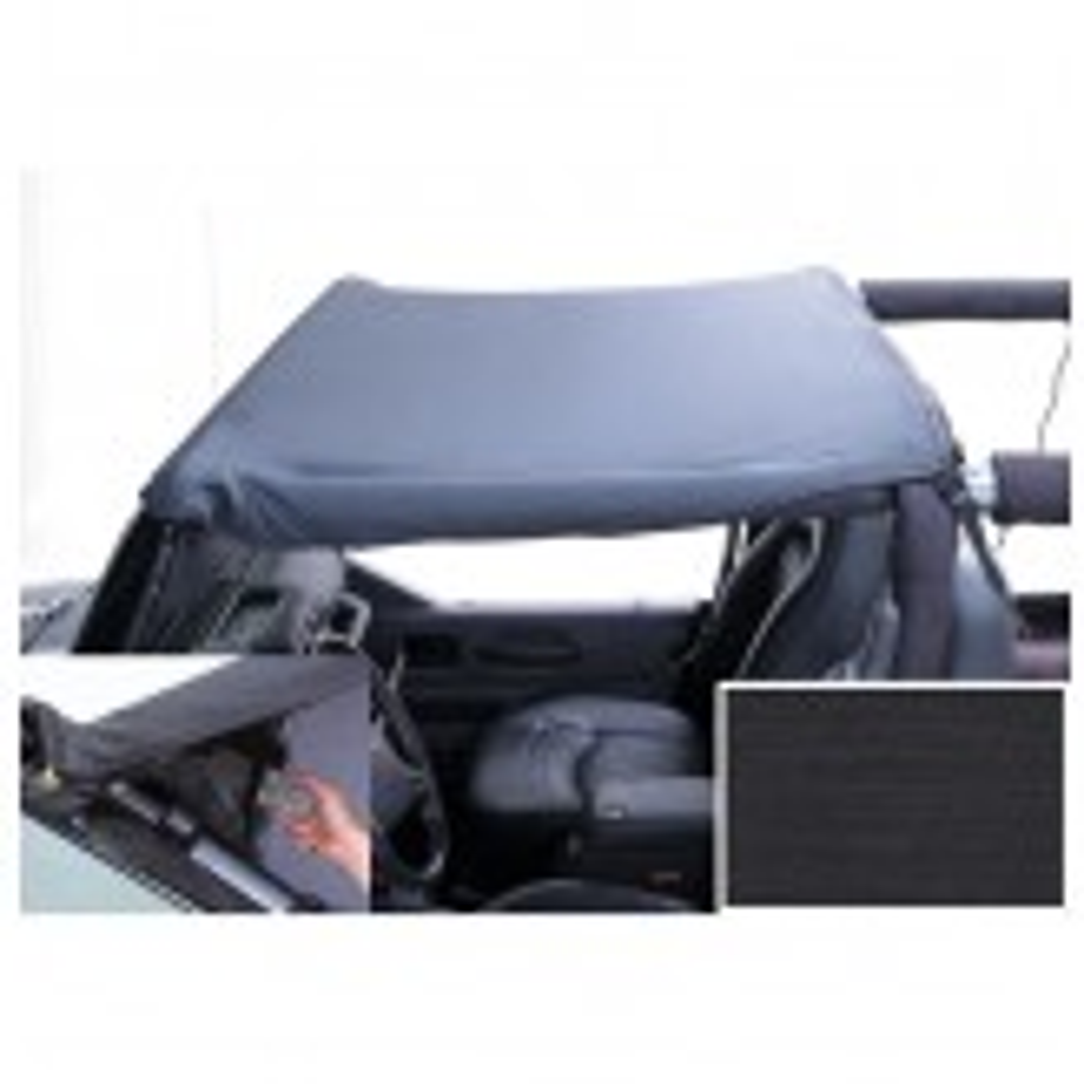 Pocket Brief Top, Black Diamond; 97-06 Jeep Wrangler TJ