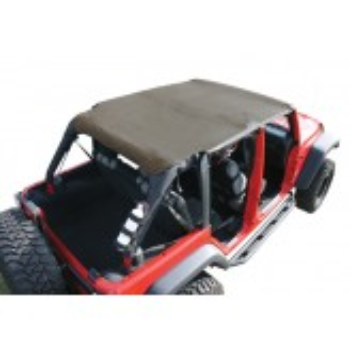 Island Pocket Topper, Khaki; 07-09 Jeep Wrangler JKU