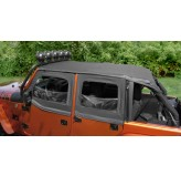 Pocket Island Topper, Black; 10-17 Jeep Wrangler JKU