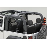 Roll Bar Cover, Black Polyester; 07-17 Jeep Wrangler JK