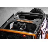 Roll Bar Cover, Vinyl; 07-17 Jeep Wrangler JKU