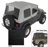 Soft Top, Door Skins, Black, Tinted Windows; 88-95 Jeep Wrangler YJ