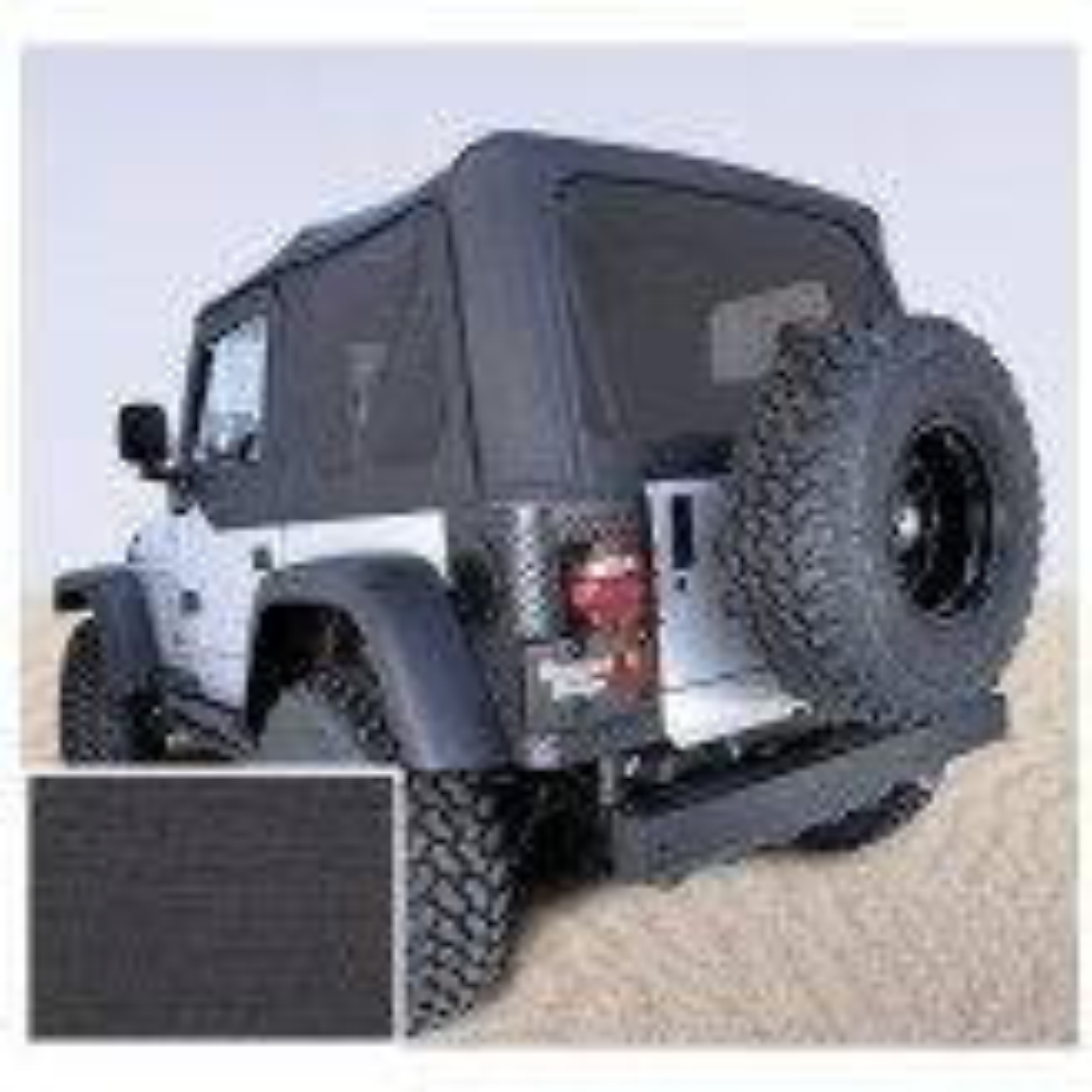 Soft Top, Door Skins, Black, Tinted Windows; 97-02 Jeep Wrangler TJ