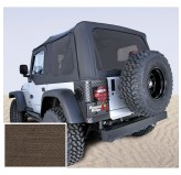 Soft Top, Door Skins, Khaki, Tinted Windows; 03-06 Jeep Wrangler TJ