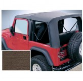 Soft Top Khaki, Tntd Windows; 03-06 Wrangler TJ