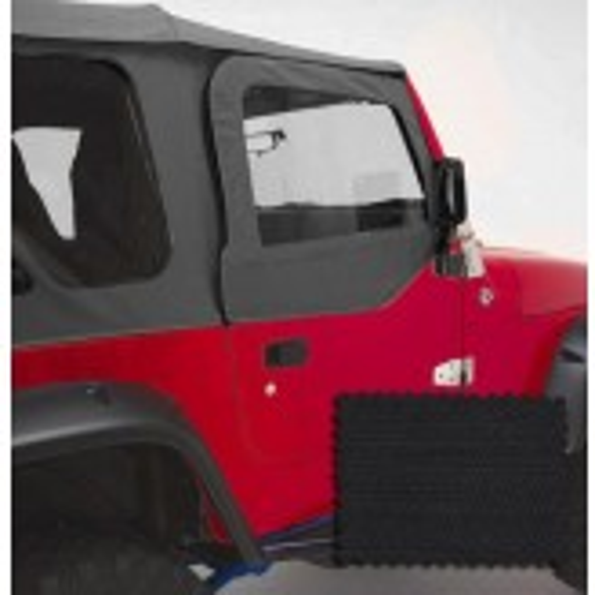 Door Skins, Black Diamond; 97-06 Jeep Wrangler TJ