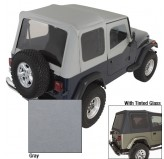 XHD Soft Top, Charcoal, Tinted Windows; 88-95 Jeep Wrangler YJ