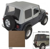 Xhd Soft Top Spice Tinted Windows 88-95 Jeep YJ Wrangler