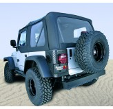 XHD Soft Top, Black Diamond, Tinted Windows; 97-06 Jeep Wrangler TJ