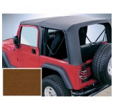 Xhd Soft Top Tan Clear Windows 97-02 Jeep TJ Wrangler