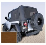 XHD Soft Top, Dark Tan, Tinted Windows; 97-06 Jeep Wrangler TJ