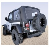 XHD S-Top Black Tinted Windows; 97-06 Wrangler TJ