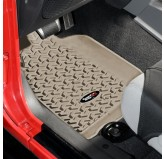 Floor Liners FRT Tan 07-18 Wrangler/Unlimited JK