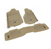 Floor Liners, Kit, Tan; 07-17 Jeep Wrangler JKU