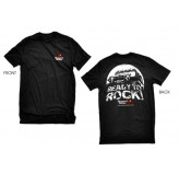 Black Ready To Rock Tee Large