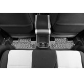 Floor Liners, Rear, Gray; 07-17 Jeep Wrangler JK