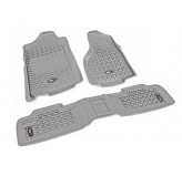 Floor Liners, Kit, Gray; 07-17 Jeep Wrangler JKU