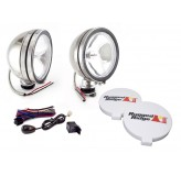 6 Inch Halogen Fog Light Kit, Stainless Steel Housings, Pair