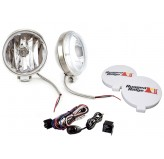 6 Inch Slim Halogen Fog Light Kit, Stainless Steel Housings, Pair