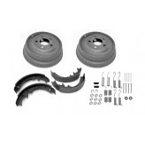 Drum Brake Kit, Front or Rear; 74-78 Jeep CJ Models