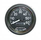 Speedometer Gauge, 0-60 MPH; 46-58 Willys CJ2A/CJ3A/CJ3B