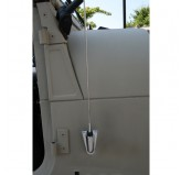 Chrome Antenna Kit; 76-95 Jeep CJ/Wrangler YJ