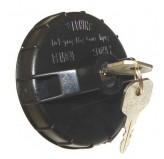 Gas Cap, Locking, Black; 91-95 Jeep Wrangler YJ