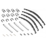 Leaf Spring Kit, 1 inch lift; 55-58 Jeep CJ Models