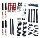 2 Inch Lift Kit with Shocks; 03-06 Jeep Wrangler TJ