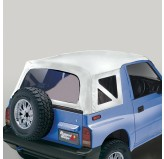Xhd Soft Top White Denim Clear Windows 95-98 Suzuki Sidekicks