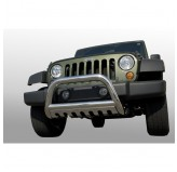 3-Inch Stainless Steel Bull Bar 07-09 Jeep JK Wrangler