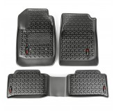 Floor Liners, Kit, Front/Rear, Black; 15-16 Chevrolet Colorado